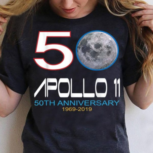 Apollo 11 50TH Anniversary 1969-2019 Moon shirt