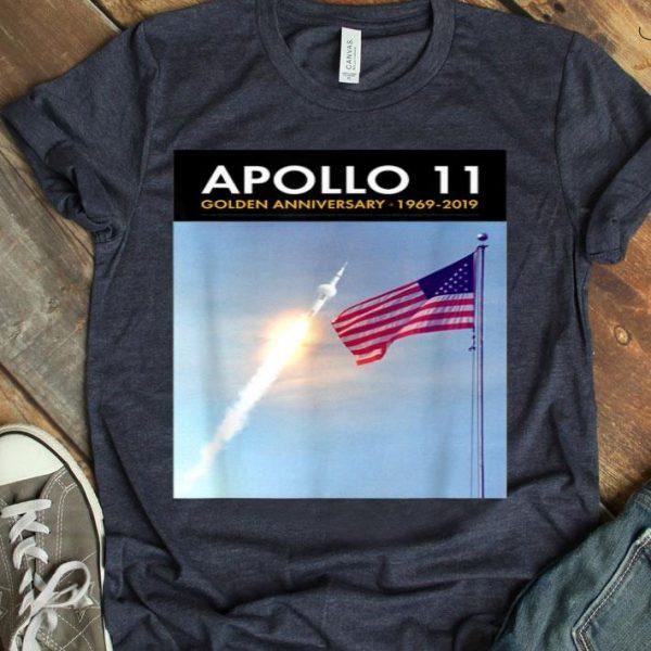 Apollo 11 50th Anniversary Saturn V and US Flag shirt