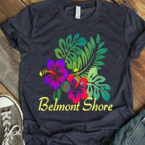 Belmont Shore Beach Tropical Flower Surf Vacay shirt