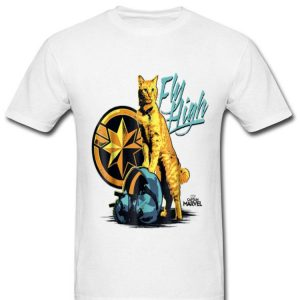 Captain Marvel Symbol Goose Fly High Graphic shirt