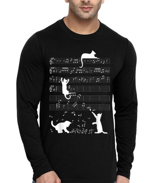 Cute Cat Kitty Playing Music Lover Clef Piano Music Loverian Art shirt