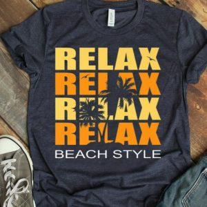 Cute Relax Sunset Beach Vacation Palm Tree Holiday Premium shirt