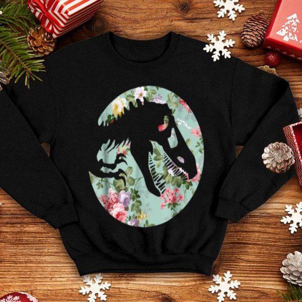 Dinosaur T-rexs Girls Flower Style shirt