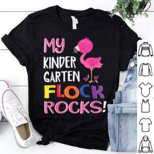 Flamingo My Kindergarten Flock Rocks Teacher shirt