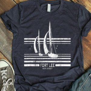 Fort Lee Nj Sailboat Vintage 70S Graphic shirt
