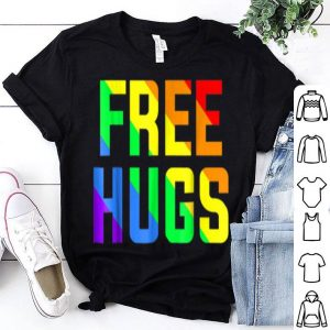 Free Hugs Gay Pride Rainbow Flag Lgb shirt