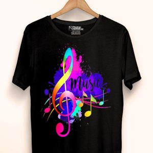 Funky Colorful Music Lover Treble Clef Music Loveral Note shirt