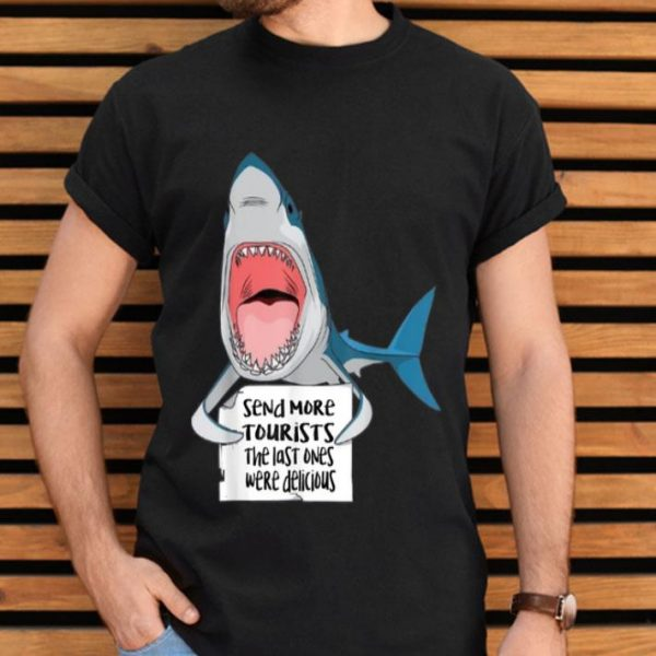 Funny Humor Saying Great White Shark Aquaholic shirt