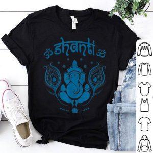 Ganesh Hindu Elephant God Om Shanti Peace Yoga shirt