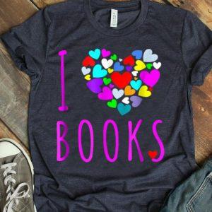 I Love Books Heart Love Reading Book Club shirt