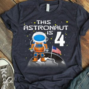 Kids 4th Birthday Astronaut One Step Boys 4 Year Old shirt
