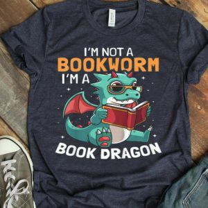 Kids Book Dragon With Wings Bookworm Funny For Kids shirt