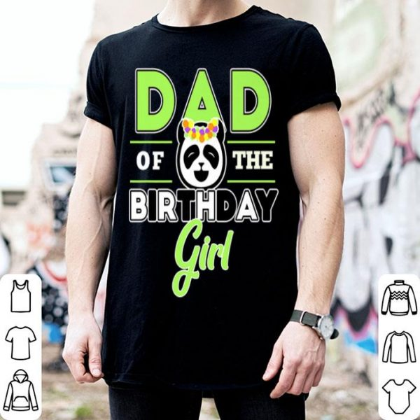 Mens Dad Of Birthday Girl Panda Lover Theme Daddy Party Premium shirt