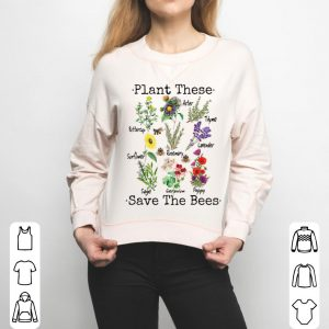 Plant These Save The Bees Yellow Flowers shirt