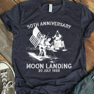 Retro 50th Anniversary Moon Landing 1969 - 2019 Astronaut Giant Leap shirt
