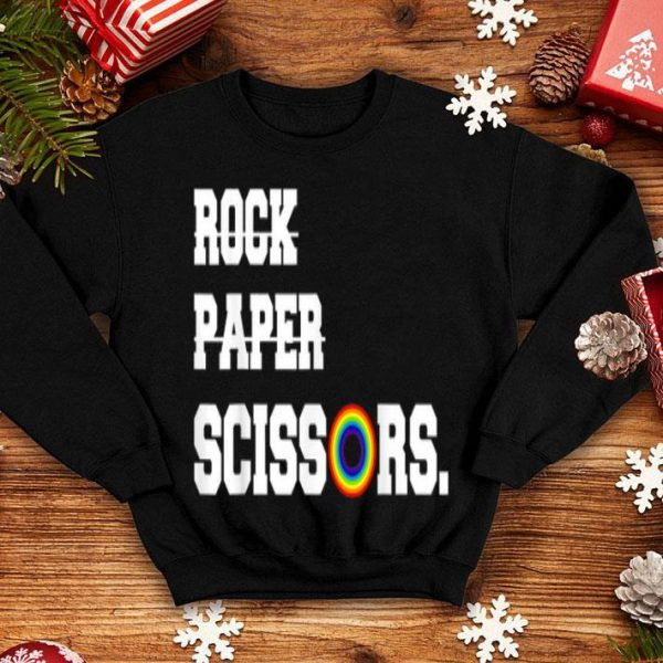Rock Paper Scissors Lesbian Pride LGBT 50Th Anniversary shirt