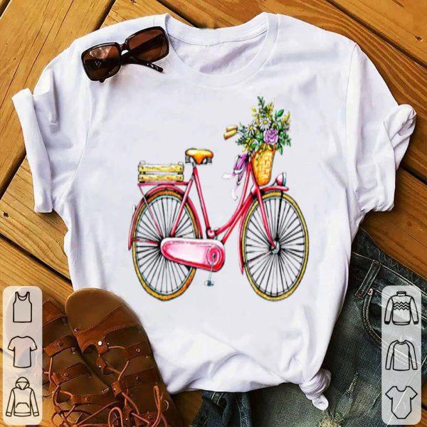Vintage Bicycle Inspired Flower Basket Themeds shirt