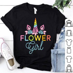 Wedding Flower Girl Unicorn Bridesmaids shirt
