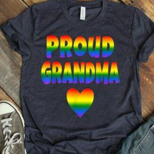 Womens Proud Grandma LGBT Pride LGBT Grandmother Cute Love shirt