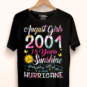 August Girls 2001 18 Years Old Awesome Since 2001 shirt