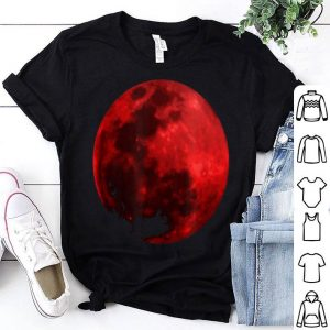 Awesome Blood Red Moon Graphic Realistic shirt
