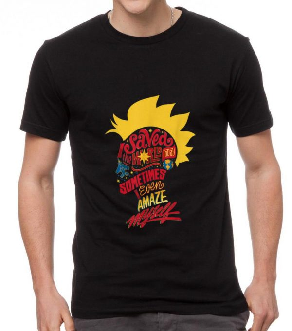 Awesome Captain Marvel Mohawk I Saved The World Today shirt
