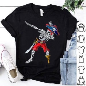 Awesome Dabbing Skeleton Pirate Halloween Kids Boys Men Gift shirt