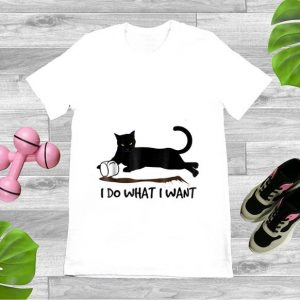 Awesome I Do What I Want Black Cat shirt
