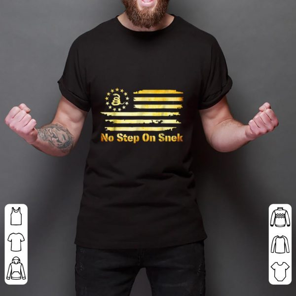 Awesome No Step On Snek Snake Gadsden Betsy Ross Flag shirt