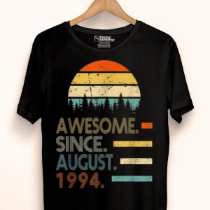 Awesome Since August 1994 Vintage 25th Birthday shirt