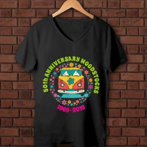 Awesome Woodstocks 50th Anniversary Peace Bus 1969 2019 shirt