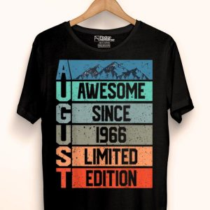 Awesome since August 1966 Vintage 53rd Birthday shirt