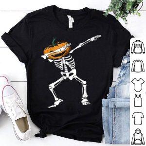 Beautiful Funny Dabbing Skeleton Pumpkin Halloween Dab shirt