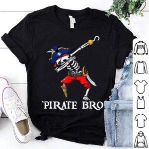 Funny Dabbing Skeleton Pirate Bro Halloween Costume Gift shirt