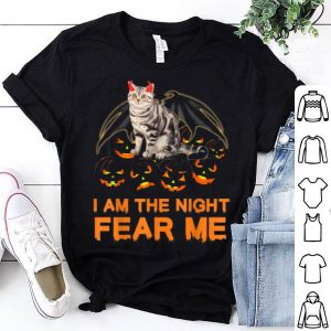 Funny I Am The Night Fear Me Funny Bengal Cat Halloween shirt