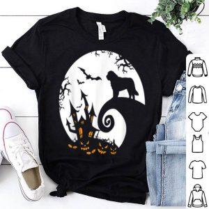 Funny Saint Bernard And Moon Halloween Costume shirt