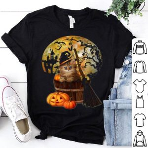 FunnyCat Witch Pumpkin Moon Funny Cats Loves Halloween Costume shirt