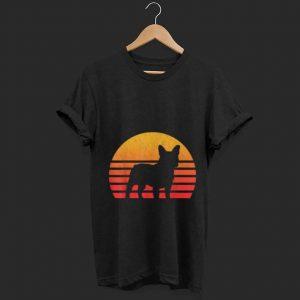 Hot Vintage Retro Sunset French Bulldog Silhouette shirt