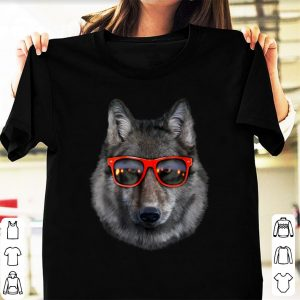 Hot Wolf in Retro Sunglass Frame shirt