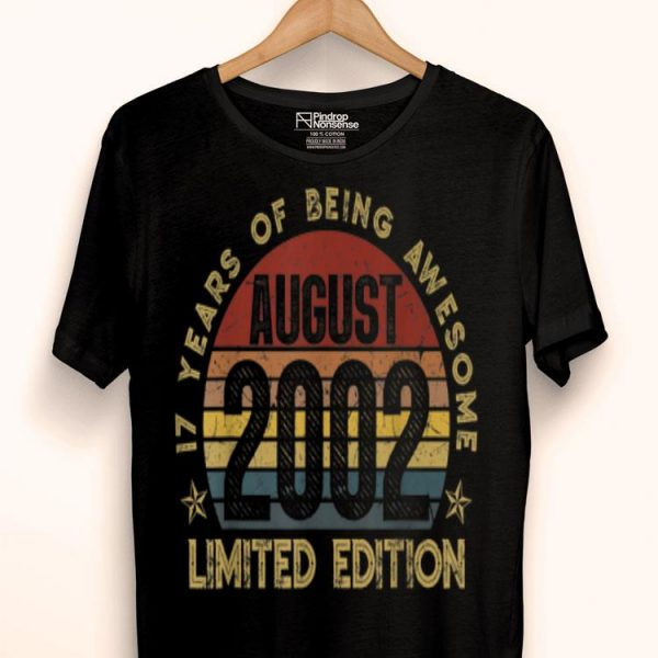 Legendary Awesome Epic Since August 2002 Vintage shirt