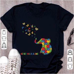 Nice Autism Awareness Elephant Never Walk Alone
