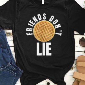 Nice Friends Don't Lie Novelty Waffle shirt