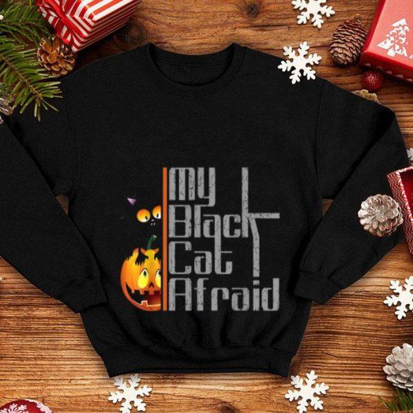 Official Black Cat Afraid On Pumpkin Halloween shirt