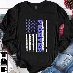 Official Fighter Cancer Awareness American Flag shirt