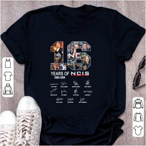 Original 16 Years Of NCIS Signature shirt