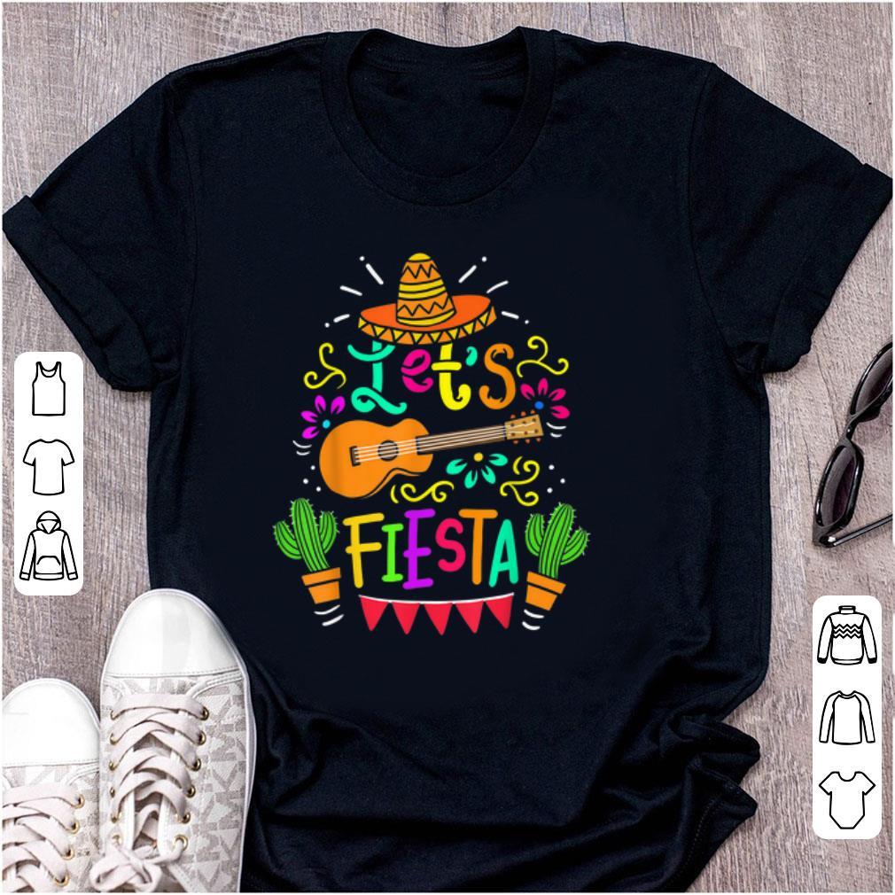 Original Cinco De Mayo Let s Fiesta Guitar Cactus shirt 1 - Original Cinco De Mayo Let's Fiesta Guitar Cactus shirt