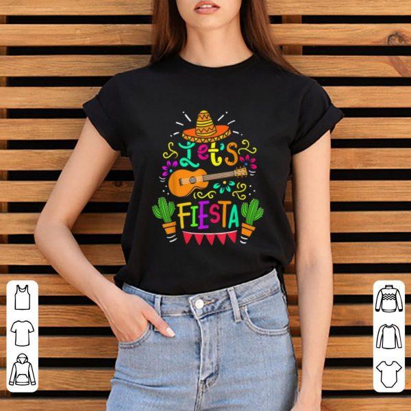 Original Cinco De Mayo Let's Fiesta Guitar Cactus shirt