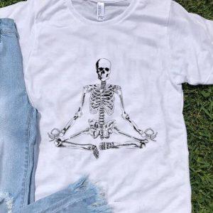 Original Halloween Meditating Skeleton Yoga shirt