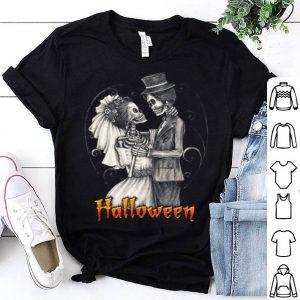 Original Halloween Wedding Day In October - Bride And Groom shirt