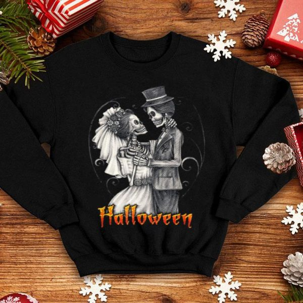 Original Halloween Wedding Day In October - Bride And Groom shirt